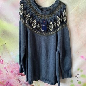 ⭐️ NEW Chaps Sweater Size 2x Blue
